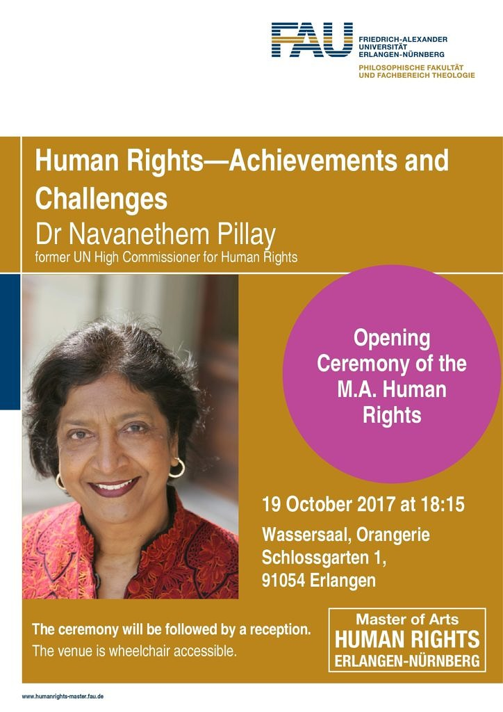 "Towards entry ""Video: Navi Pillay at the Human Rights Master Opening Ceremony"""